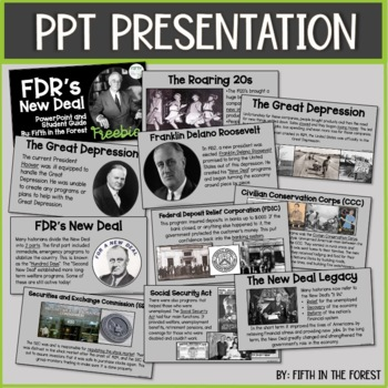 FDR's New Deal Discussion Guide and Foldable