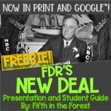 FDRs New Deal Discussion Guide and Foldable FREEBIE