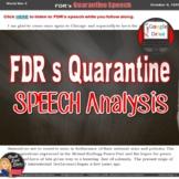 FDR's Quarantine Speech Response Letter World War II  (U.S. History)