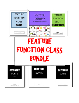FEATURE, FUNCTION, CLASS and CATEGORIES- Sorts, FlipBook,