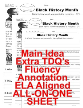 FEBRUARY 7 passages 5 levels each Differentiated PresidentsValentineBlackHistory