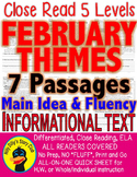 Black History Month Valentine's Presidents Super Bowl Mardi Gras LEVEL PASSAGES