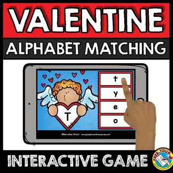FEBRUARY ALPHABET LETTERS (VALENTINE'S DAY ACTIVITY KINDERGARTEN) BOOM CARDS ELA