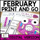 FEBRUARY Activities For First Grade NO PREP