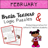 FEBRUARY Brain Teasers & Logic Puzzles