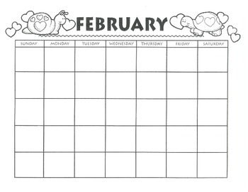 FEBRUARY CALENDAR - Free Download