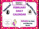 FEBRUARY- Editable Daily Slides