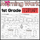 Morning Work: First Grade February Packet (Differentiated Common Core)