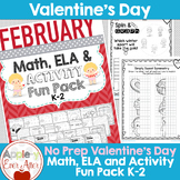 FEBRUARY FUN - VALENTINE'S DAY - NO PREP