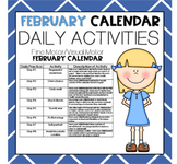 FEBRUARY Fine Motor/Visual Motor (Daily Activities)