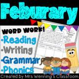 1st Grade FEBRUARY Lesson Plan Bundle with Activities & Word Work!