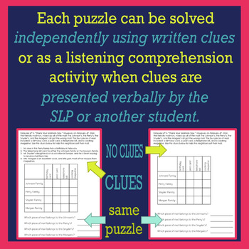 FEBRUARY Logic Puzzles for Listening Comprehension for SLPs