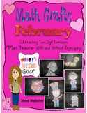 FEBRUARY MATH CRAFTS 2-Digit Subtraction With and Without Regrouping