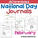 FEBRUARY National Days Differentiated Journals for special