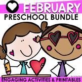 FEBRUARY PRESCHOOL or Kindergarten Activities Bundle