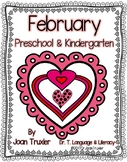 FEBRUARY is for Preschoolers (PreK & Kindergarten)