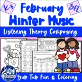 FEBRUARY VALENTINE MUSIC Fun Worksheets & Songs, K-5 Compo