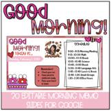 FEBRUARY/VALENTINE'S DAY Themed Editable Morning Meeting Slides
