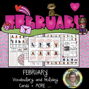 FEBRUARY Vocabulary and Holiday Cards + MORE Grades 1-3