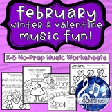 FEBRUARY VALENTINE & WINTER FUN MUSIC Groundhog Day, Compo