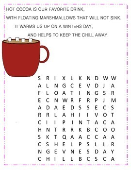 February Poetry, Word Searches, Winter Theme, With Original Poetry