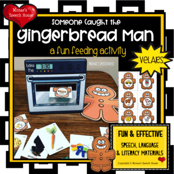 FEED GINGERBREAD MAN SPEECH THERAPY  worksheets LOW PREP NO PREP