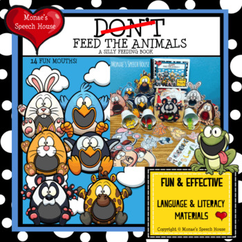 FEED THE ANIMALS Sing-ALONG  AAC/PECS Early Reader Pre-K Speech Therapy