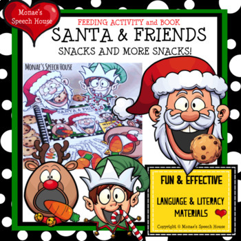 FEED THE SANTA REINDEER ELF Early Reader Pre-K Speech Therapy