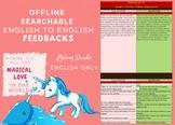 feedbacksforyou | Editable Interactive Excel Workbook | BUNDLE ENG2ENGLISH