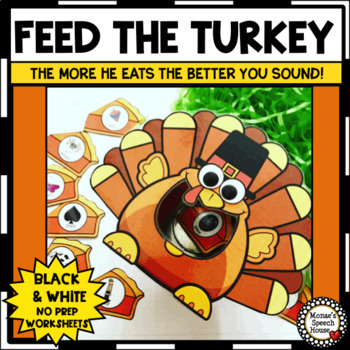 FEEDING TURKEY SPEECH THERAPY  worksheets LOW PREP NO PREP