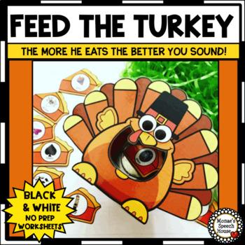 FEEDING TURKEY SPEECH THERAPY  worksheets LOW PREP NO PREP