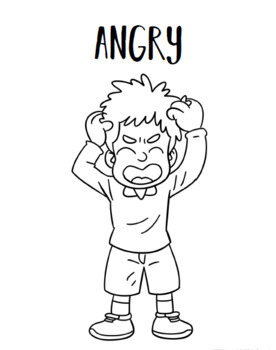 FEELINGS COLORING PAGES