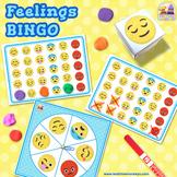 FEELINGS & EMOTIONS BINGO - An EDITABLE Dice / Spinner Game with Craftivity!