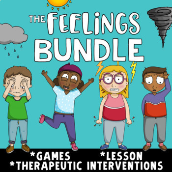 FEELINGS & EMOTIONS Bundle: School Counseling lesson, games & interventions