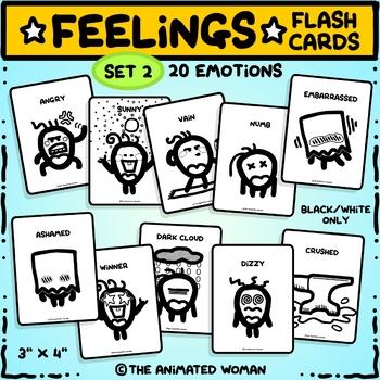 FEELINGS Flashcards – Set 2 Black & White ONLY