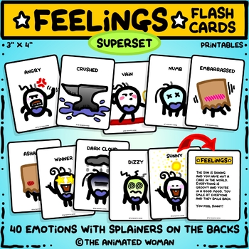 FEELINGS Flashcards With Splainers - BUNDLE