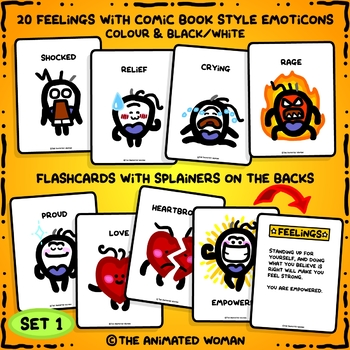 FEELINGS Flashcards With Splainers – Set 1