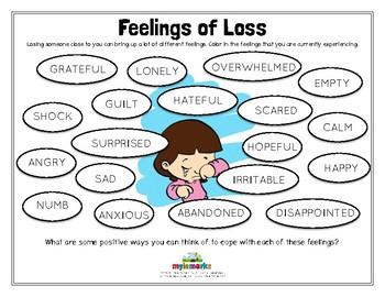 FEELINGS OF LOSS (Grief)