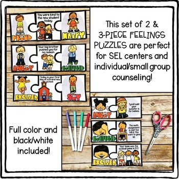 FEELINGS Puzzles for Counseling and SEL Centers!