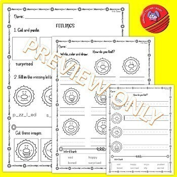FEELINGS Vocabulary Activities and Flashcards (Summer Edition) ESL/ELA