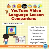 FEELINGS/WEATHER/OPPOSITES: Language Lesson Video Companion Worksheets