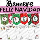 FELIZ NAVIDAD BANNERS - SPANISH MERRY CHRISTMAS BANNERS