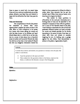 FENCES - Study Guide