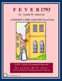 FEVER 1793 Novel Study - Common Core Aligned
