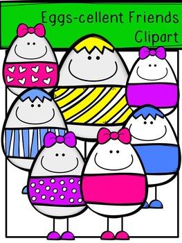 Easter Clipart - Egg-cellent Friends Clipart