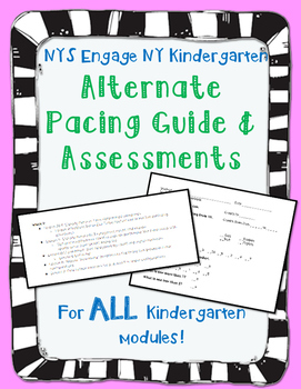 Engage NY Kindergarten Math Modules Pacing Guides and Asse