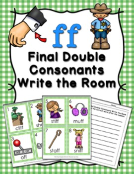 FF Final Double Consonants Write the Room