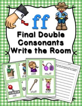 FF Final Double Consonants Write the Room
