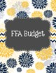 FFA Advisor Binder Covers Blue and Yellow Floral