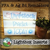 FFA & Ag Ed Reminders Lightbox Inserts
